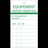 Plaquettes américaines d'inspection d'équipement