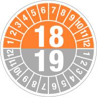 Pastilles calendrier rondes double année en polyoléfine ultra-destructible