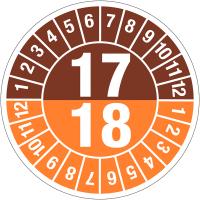Pastilles calendrier rondes double année tranfert à sec