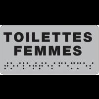 Plaque de porte Toilettes Femmes en braille