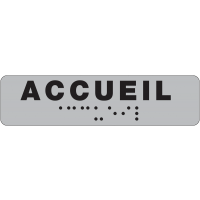 Plaque de porte en braille