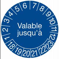 Pastilles calendrier rondes colorées avec texte en vinyle permanent