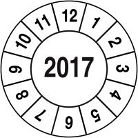 Pastilles calendrier rondes de sécurité VOID année simple en polyester