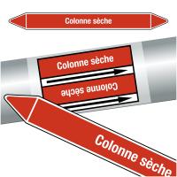 """Marqueurs de tuyauteries CLP """"Colonne sèche"""" (Incendie)"""