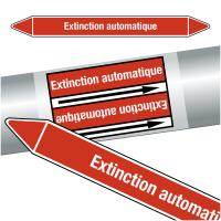 """Marqueurs de tuyauteries CLP """"Extinction automatique"""" (Incendie)"""