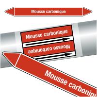 """Marqueurs de tuyauteries CLP """"Mousse carbonique"""" (Incendie)"""