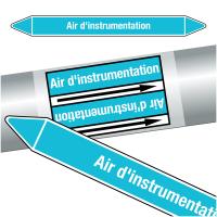 """Marqueurs de tuyauteries CLP """"Air d'instrumentation"""" (Air)"""