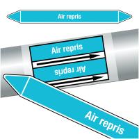 """Marqueurs de tuyauteries CLP """"Air repris"""" (Air)"""