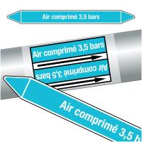 """Marqueurs de tuyauteries CLP """"Air comprimé 3,5 bars"""" (Air)"""