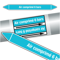 """Marqueurs de tuyauteries CLP """"Air comprimé 6 bars"""" (Air)"""