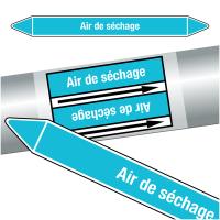 "Marqueurs de tuyauteries CLP ""Air de séchage"" (Air)"