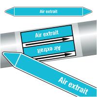"""Marqueurs de tuyauteries CLP """"Air extrait"""" (Air)"""