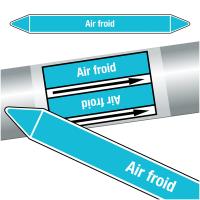"""Marqueurs de tuyauteries CLP """"Air froid"""" (Air)"""