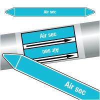 """Marqueurs de tuyauteries CLP """"Air sec"""" (Air)"""