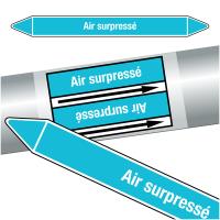 """Marqueurs de tuyauteries CLP """"Air surpressé"""" (Air)"""