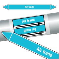 """Marqueurs de tuyauteries CLP """"Air traité"""" (Air)"""