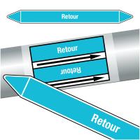 "Marqueurs de tuyauteries CLP ""Retour"" (Air)"