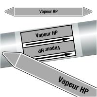 "Marqueurs de tuyauteries CLP ""Vapeur HP"" (Vapeur)"