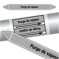 """Marqueurs de tuyauteries CLP """"Purge de vapeur"""" (Vapeur)"""
