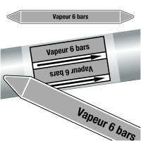 "Marqueurs de tuyauteries CLP ""Vapeur 6 bars"" (Vapeur)"
