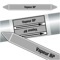 "Marqueurs de tuyauteries CLP ""Vapeur BP"" (Vapeur)"