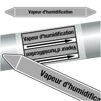"Marqueurs de tuyauteries CLP ""Vapeur d'humidification"" (Vapeur)"