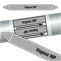 "Marqueurs de tuyauteries CLP ""Vapeur MP"" (Vapeur)"
