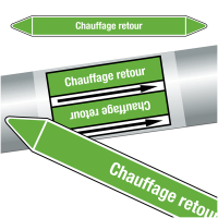 "Marqueurs de tuyauteries CLP ""Chauffage retour"" (Eau)"