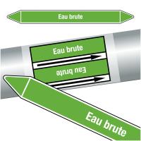 """Marqueurs de tuyauteries CLP """"Eau brute"""" (Eau)"""