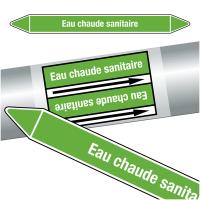 """Marqueurs de tuyauteries CLP """"Eau chaude sanitaire"""" (Eau)"""