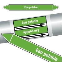 """Marqueurs de tuyauteries CLP """"Eau potable"""" (Eau)"""