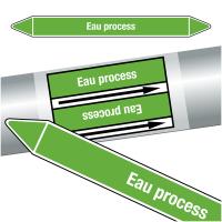 """Marqueurs de tuyauteries CLP """"Eau process"""" (Eau)"""