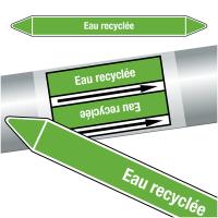 """Marqueurs de tuyauteries CLP """"Eau recyclée"""" (Eau)"""