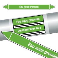 """Marqueurs de tuyauteries CLP """"Eau sous pression"""" (Eau)"""