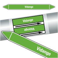 """Marqueurs de tuyauteries CLP """"Vidange"""" (Eau)"""