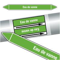 """Marqueurs de tuyauteries CLP """"Eau de vanne"""" (Eau)"""