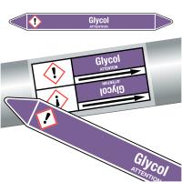 """Marqueurs de tuyauteries CLP """"Glycol"""" (Acides et bases)"""