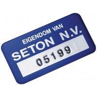 Etiquettes de propriété SetonGuard en aluminium anodisé