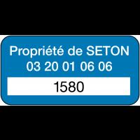 Etiquettes de sécurité prédécoupées en vinyle