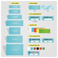 Etiquettes adhésives personnalisées pour usage multiple