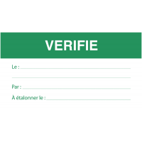 Etiquettes d'inspection magnétiques réutilisables à textes