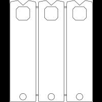 Porte-clés en polystyrène à attache rapides