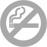"""Bande de signalisation aspect givré pictogramme """"interdiction de fumer"""""""
