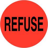 """Etiquettes en vinyle """"Refuse"""""""