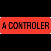 """Etiquettes en papier """"A contrôler"""""""