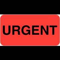 """Etiquettes en papier fluorescent """"Urgent"""""""