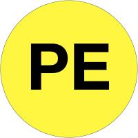 """Etiquettes d'équipotentialité """"PE"""""""