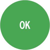 """Pastilles d'inspection adhésive verte avec mention """"OK"""""""
