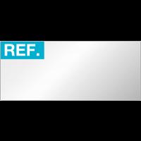 """Etiquettes d'inspection avec mention """"REF:"""" à compléter en aluminium"""