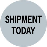"""Etiquettes de colisage adhésives à texte """"Shipment Today"""""""